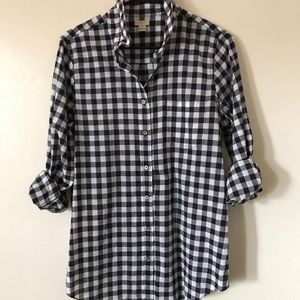 Plaid woven button up